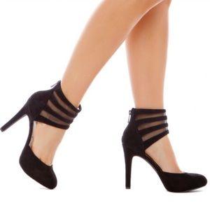 Jessica Simpson Black Avalyn Pumps/Heels 6